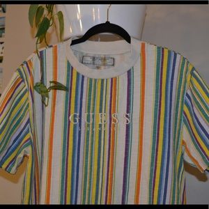 Striped guess tee